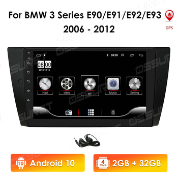 2 Din Android 10 9 Inch Quad Core Car Radio Gps for Bmw 3 Series E90 E91 E92 E93 2006-2012 Navi Stereo Multimedia Player USB image