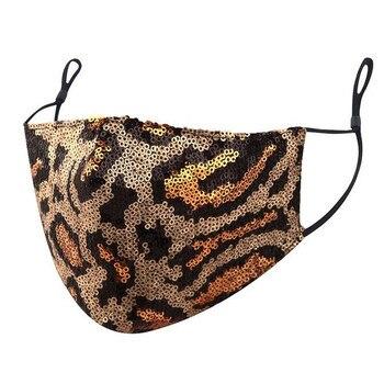 -Unisex Sequins Leopard Reusable Masks Adult Unisex Adjustable Washable Protective Face Shield 1pc Foggy Haze Pm2.5 Mascarillas