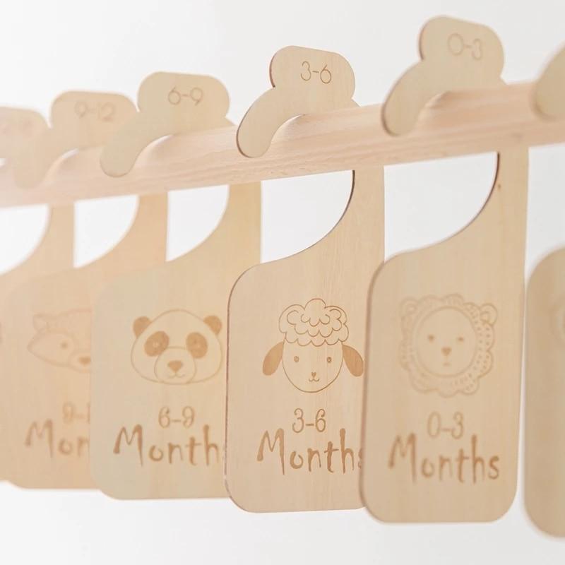 11 stücke Holz Baby Milestone Karten 24 Monate Baby Closet Teiler Memorial Monatliche Neugeborenen Foto Zubehör Neugeborenen Baby Geschenk