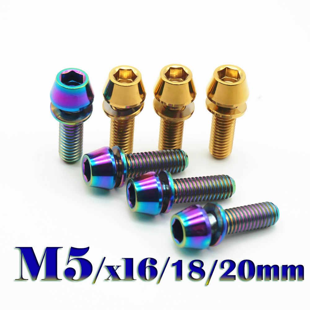 10 pcs M6*15 Titanium GR1 TA1 Hexagon Cap Head Tapered Socket Bolts Screws