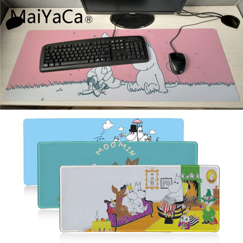 MaiYaCa Hippo Moomin Pikku Soft Mouse Pad Big Promotion Russia Gaming Mouse Pad Locking Edge Large Natural Rubber Mouse Pad