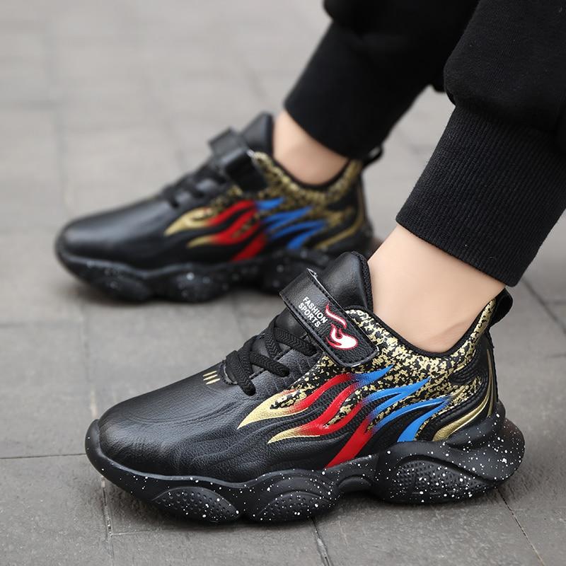 Zapatos de piel sintética para niños, zapatillas de deporte informales, a la moda, Tenis deportivos para niños pequeños, 2021