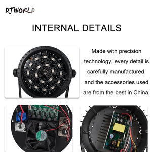 Image 4 - 4ピース/ロットアルミledパー18x1 8ワット/18 × 12ワットrgbwa + uvライトdmx 512制御舞台効果照明djディスコシアターパーティーライト