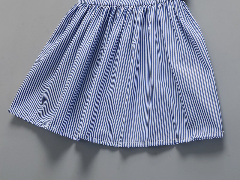 H6592dc49a350446f87d6dade9e0d315d8 Hot 2018 New Summer Dress Toddler Kids Baby Girls Lovely Birthday Clothes Blue Striped Off-shoulder Ruffles Party Gown Dresses