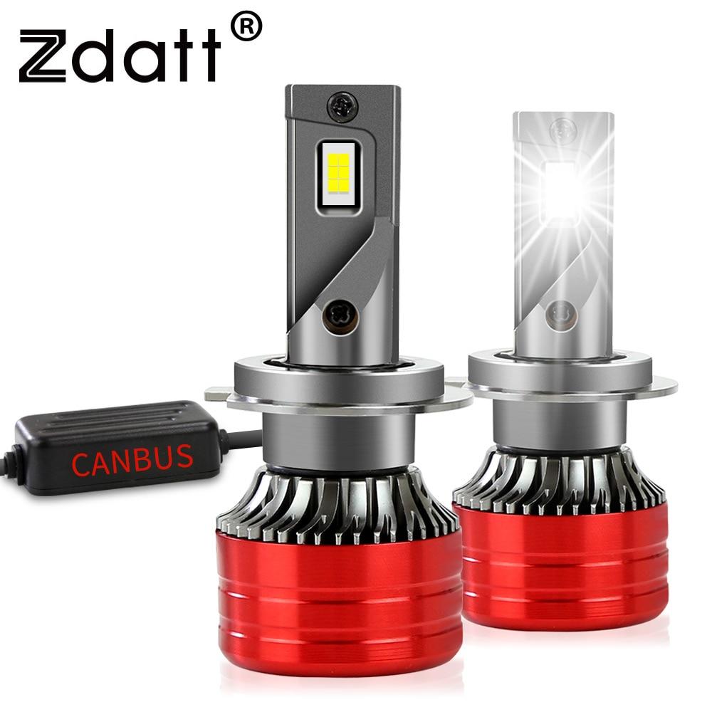 Zdatt автомобильные светильник светодиодный H1 HB3 HB4 H11 H4 светодиодные лампы H7 led головной лампочки Canbus 20000LM 6000K 60W 12V Turbo авто лампы 9005 9006