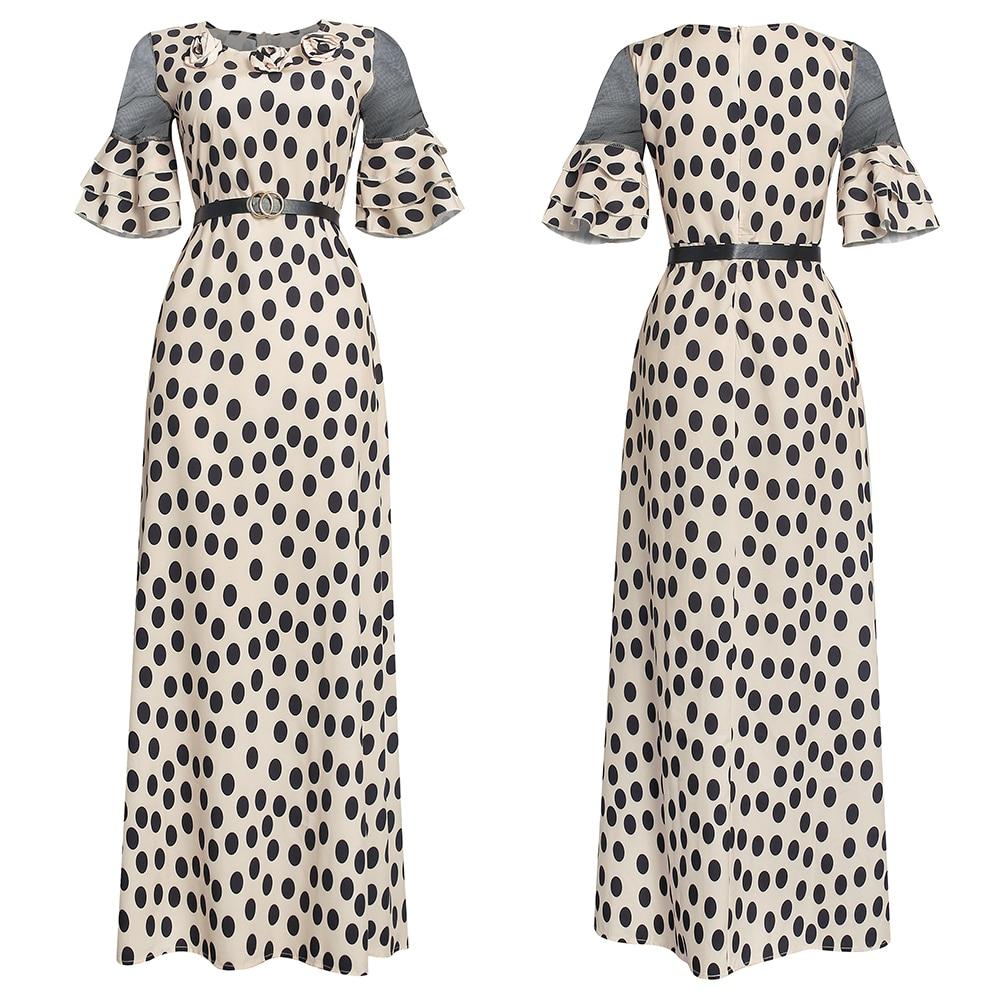 African chiffon Loose dress 3