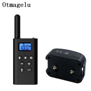 Image 1 - Controle remoto recarregável do animal de estimação do colar bonde do treinamento do cão de 300m com display lcd para o dispositivo antilatido do som da vibração de choque