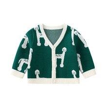 Pureborn Children Kids Sweater Cardigan Cartoon Knitted Cotton Outerwear Clothes Baby Boy Girl Spring Autumn Baby Sweater