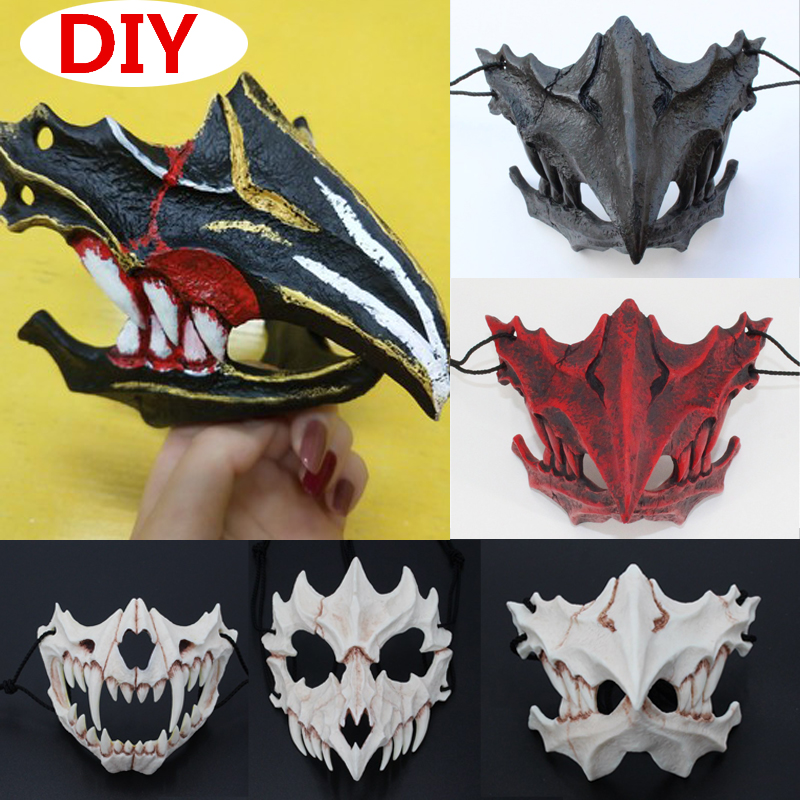 The Japanese Dragon God Mask Tengu Tiger Yasha Masks Cosplay Props Resin Halloween Costume Plague Doctor Mask|Boys Costume Accessories|   - AliExpress