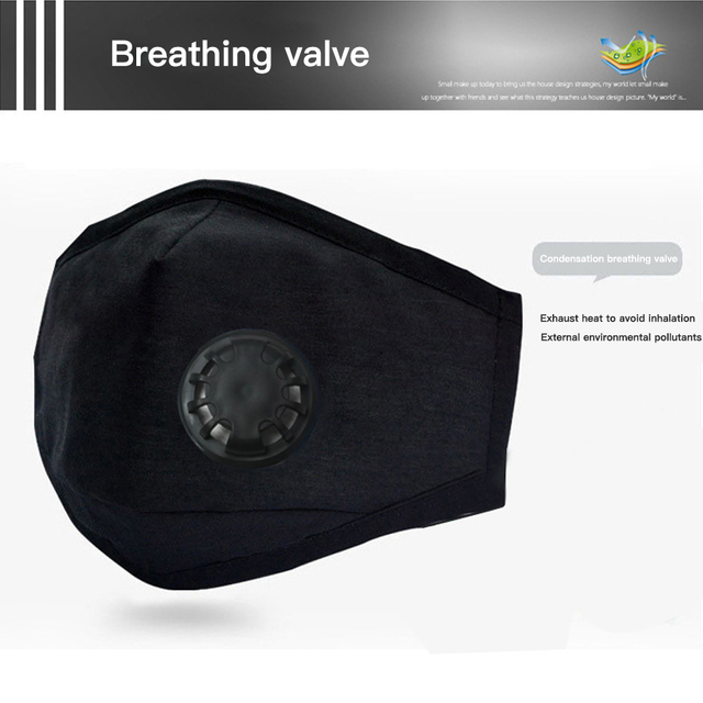 Dropshipping PM2.5 Mouth Mask Anti Dust Mask Activated Carbon Filter Windproof Mouth-Muffle Bacteria Proof Flu Face Masks Care 5