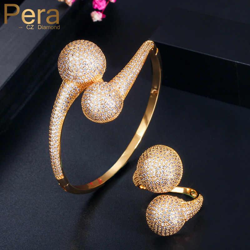 Pera インド高級デザイナー 585 黄金のブライダルジュエリー全ラウンドバングルブレスレットウェディングパーティー女性 Z056