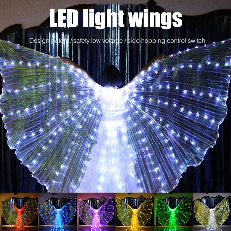 Wing LED Butterfly Costume Shawl Fairy Performance Clothing For Children Girl Stage TC21