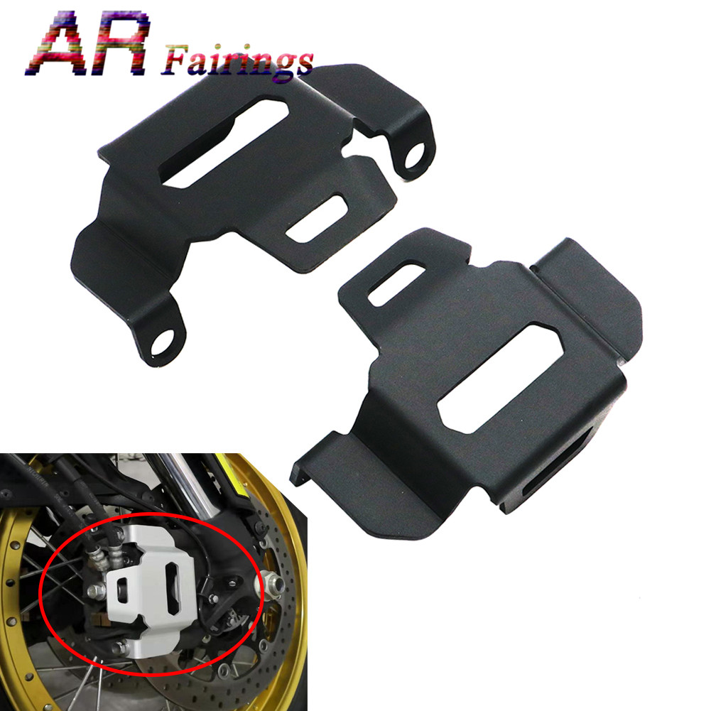 Black Silver Motorcycle CNC Left & Right Front Brake Caliper Cover Guard For SUZUKI <font><b>DL1000</b></font> V-Strom1000 2015 2016 2017 2018 2019 image