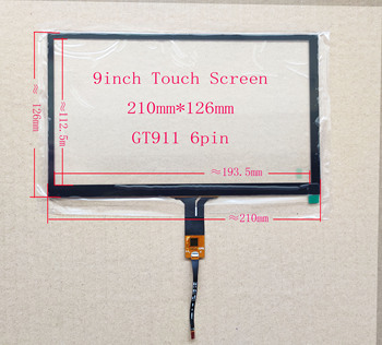 9 inch Capaivitve Touch For Car DVD Navigation Carpc DIY Univesal GT911 6pin Raspberry Android FPC image