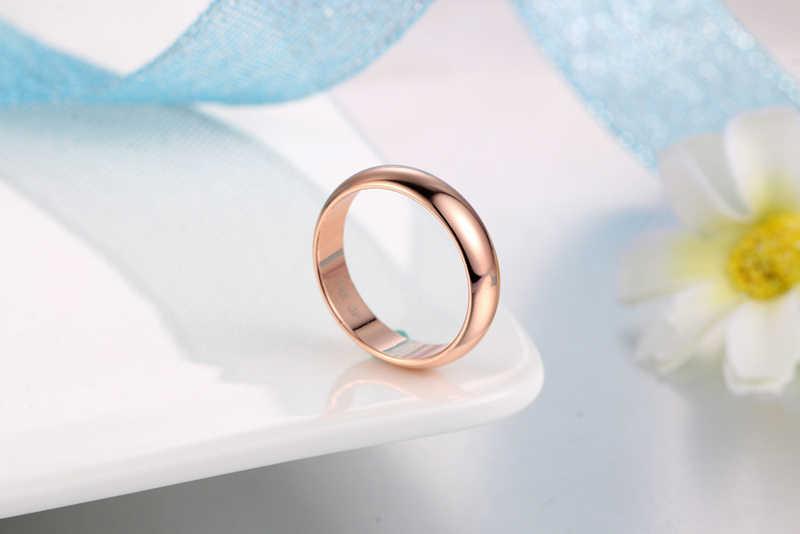 Yanhui シンプルなデザインのカップルラウンドリング 18 18k ホワイト/イエロー/ローズゴールドファッションウェディングバンドジュエリー男性のための & 女性の恋人ホット販売