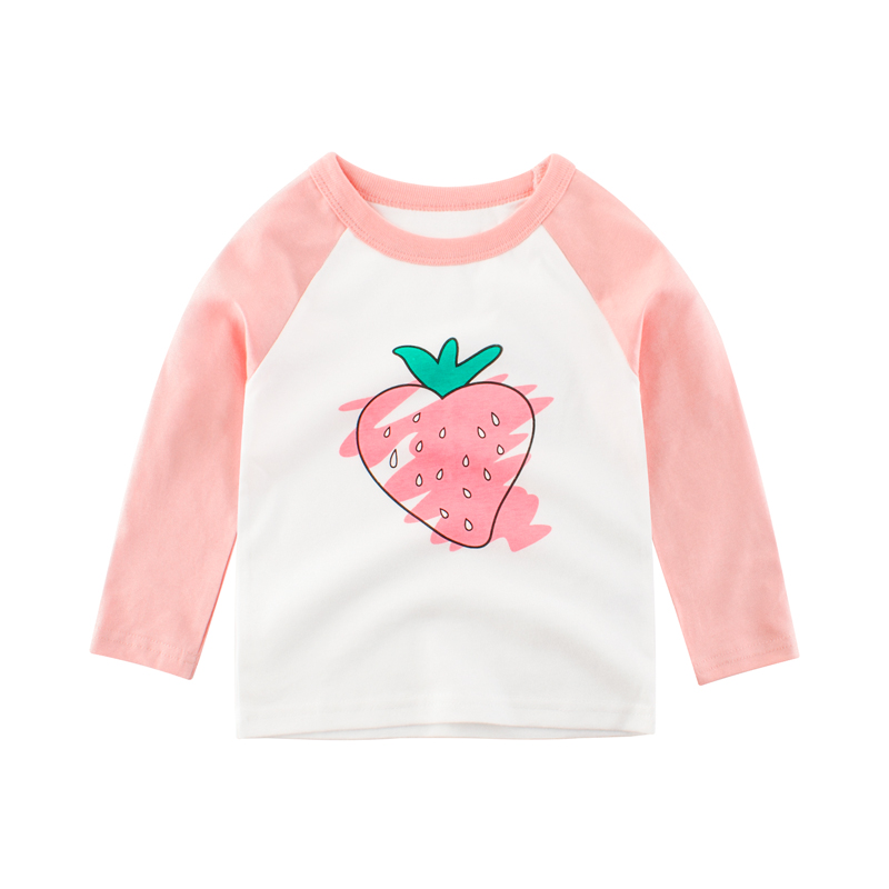 Girls T shirt Tops Children Clothes Long Sleeve Toddler Baby Kids Tee Cotton Autumn Spring Clothing for 2 3 4 5 6 7 8 Years