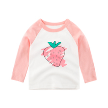 Girls T shirt Tops Children Clothes Long Sleeve Toddler Baby Kids Tee Cotton  Autumn Spring Clothing for 2 3 4 5 6 7 8 Years boys t shirts for clothes autumn turndown collar pullover children long sleeve spring school uniform t shirt 4 6 8 10 12 years
