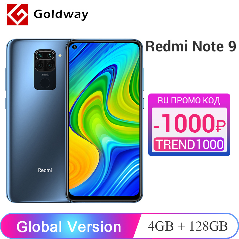 "Global Version Xiaomi Redmi Note 9 4GB RAM 128GB ROM Helio G85 Octa Core Cellphone 6.53"" 5020mAh 48MP AI Quad Rear Camera(Hong Kong,China)"