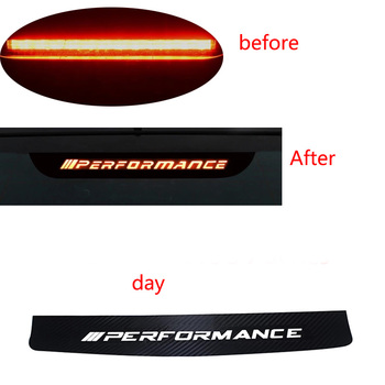 Carbon Fiber M Brake Lights Decorative Sticker For BMW Performance Series 3 5 7 X1 X3 X5 E46 E90 E92 E93 F30 G20 G30 F11 E60 F01 image
