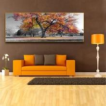 Outono maple tree impressão em tela hd pintura multi-cor folhas arte da parede impressões e poster fotos sala de estar decoração para casa