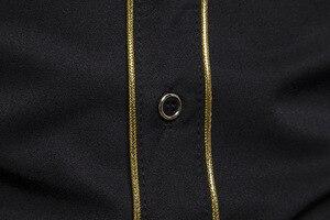 Image 5 - 男性のローズフラワー刺繍西部シャツメキシコ男白シャツスリムフィットロングスリーブパーティー祭カウボーイ衣装 camisas