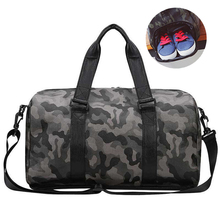 2019 New Leather Gym Bag Black Camouflage Sport Bags Shoe Compartment Waterproof Women/Men Yoga Travel