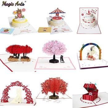 3D karty kirigami kwiaty kartka urodzinowa prezenty na rocznicę pocztówka jednorożec klon drzewo wiśni zaproszenia ślubne kartki okolicznościowe tanie i dobre opinie Magic Ants BIRTHDAY Walentynki Dzień matki Dzień nauczyciela Ślub Święto dziękczynienia New Year Biznes Uniwersalny
