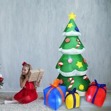2 1m wysokiej automatyczne dmuchana choinka z oświetleniem LED boże narodzenie dekoracje ogrodowe spree święty mikołaj fajne zabawki na boże narodzenie tanie tanio z waasoscon 1800g Inflatable Christmas Tree And Spree Christmas Tree Gift Package Poliester 20*23*26cm Christmas garden decoration