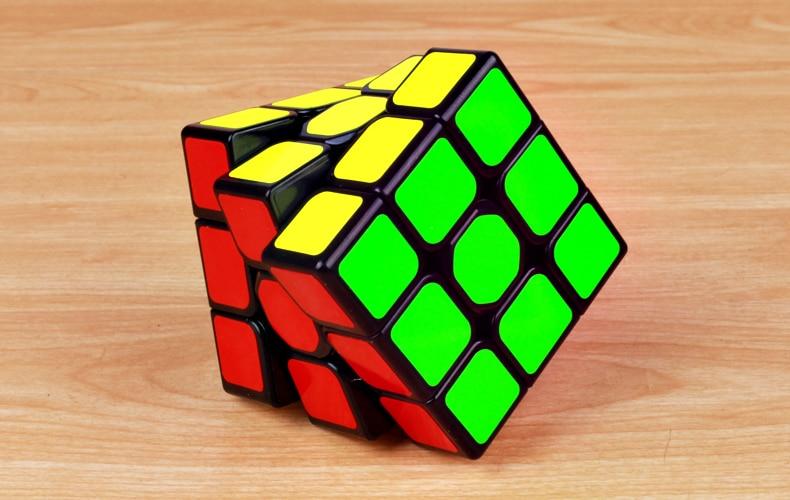 rubix cubo preto profissional 3x3 cubo brinquedos