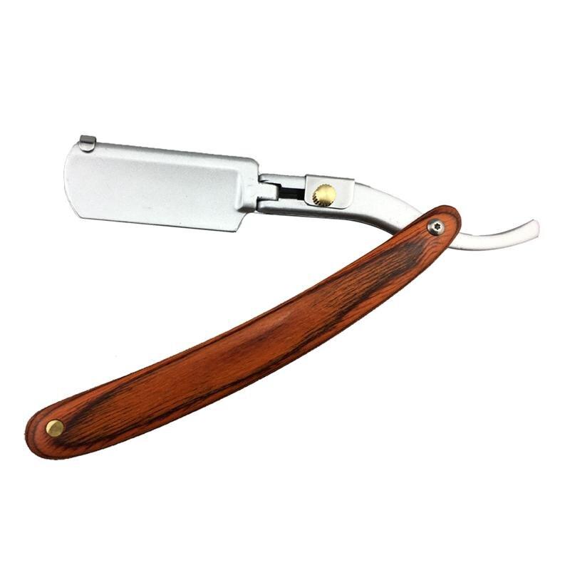 1Pc Shaving Razor Super Sharp Portable Straight Folding Beard Clipper Shaver Tool Shaving Razor For Men Barber Without Blade