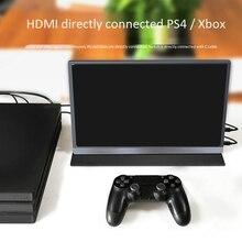 15.6 4K USB 3.1 typu C skontaktuj się z ekran przenośny Monitor dla Ps4 przełącznik telefon Monitor gamingowy LCD do laptopa wyświetlacz