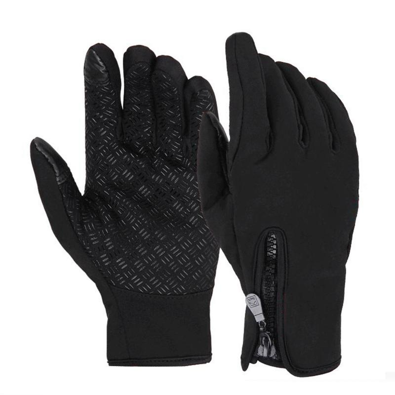 Men Touch Screen Warm Thermal Gloves Waterproof Anti-slip Windproof Sport Gloves