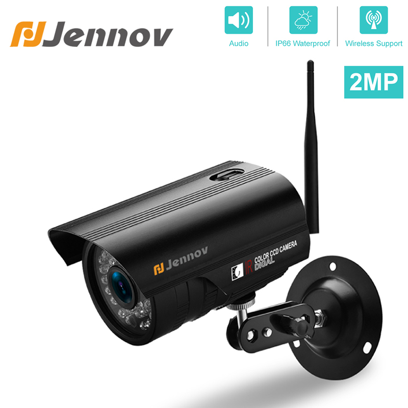Jennov Security Wireless IP Camera 1080P 720P Audio Video Surveillance WIFI HD Weatherproof IR Cut Outside ONVIF For NVR System