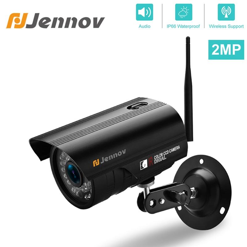 Jennov Security Wireless IP Camera 1080P 720P Audio Video Surveillance WIFI HD Weatherproof IR Cut Outside ONVIF For NVR System