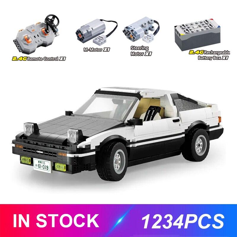 Cada C61019 AE86 Technic Series Super Sports Car Racing MOC Car Building Block Bricks Toys For Children Gift