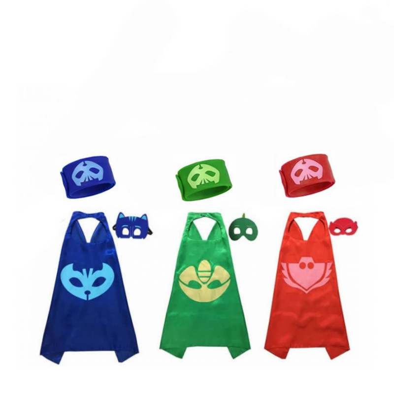 Image 5 - PJ Masks Anime Party Children Mask Cloak Cartoon Figure Birthday  Gift For Boys And Girls Halloween Cosplay ApparelParty Masks   -