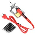 Электрический паяльник JCD 908S, цифровой ЖК-дисплей, паяльник с регулируемой температурой и наконечниками, инструменты для сварки, 80 Вт, 220 В, 110...