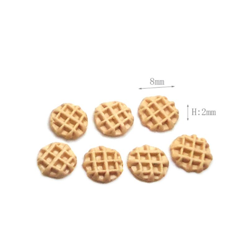 1 Set 1/12 Dollhouse Miniature Accessories Mini Dessert Cookies Biscuits Simulation Food Model For Doll House Decoration P31B