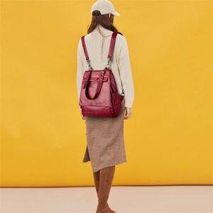 Image 2 - עור באיכות גבוהה תרמיל אישה חדש אופנה נשי תרמיל שקיות קיבולת גדולה תיק בית ספר המוצ ילה Feminina Sac Dos Femme