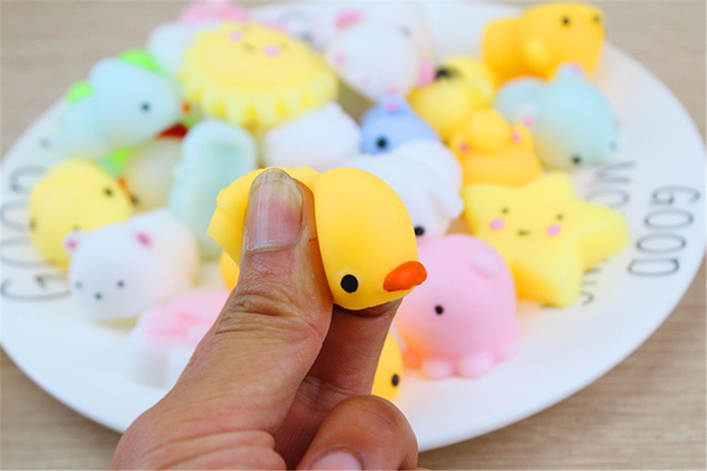 2020 NEW HOT 10 Pc Soft  Focus Squeeze Cute Healing Toy Fun Joke Decompression Toys