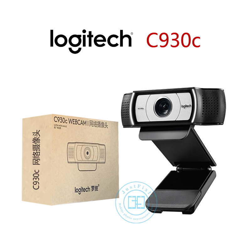 Logitech C930c C930e HD Smart 1080P Webcam With Cover For Computer Zeiss Lens USB Video Camera 4 Time Digital Zoom Web Cam