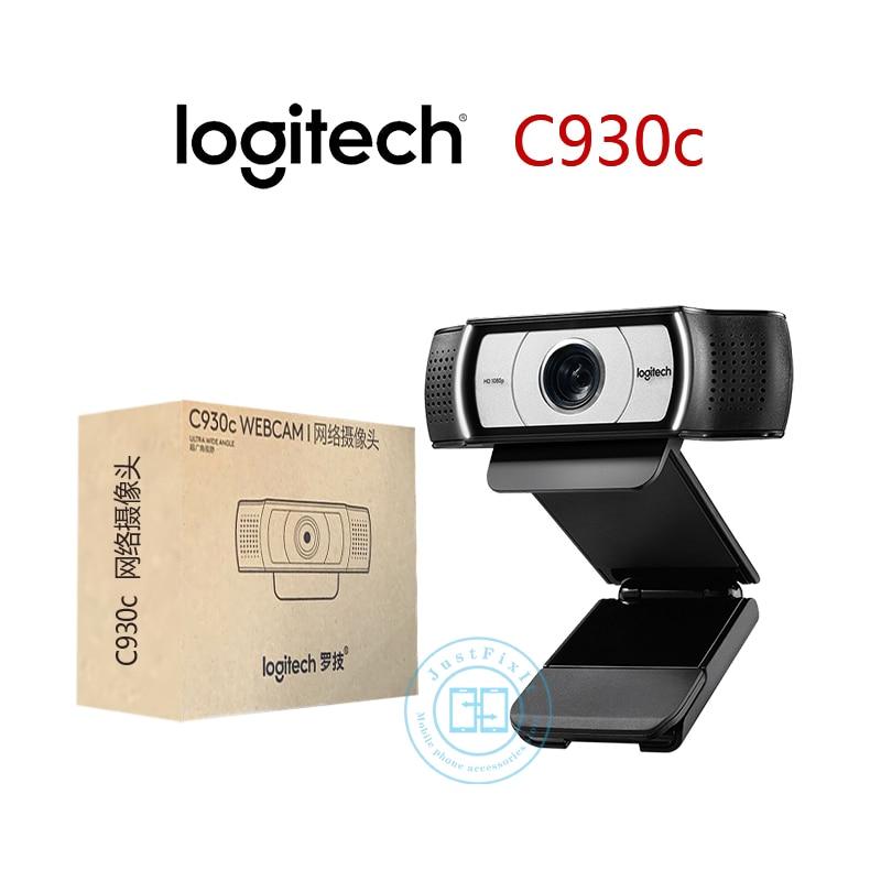 Logitech C930c C930e HD Smart 1080P Webcam With Cover For Computer Zeiss Lens USB Video Camera 4 Time Digital Zoom Web Cam