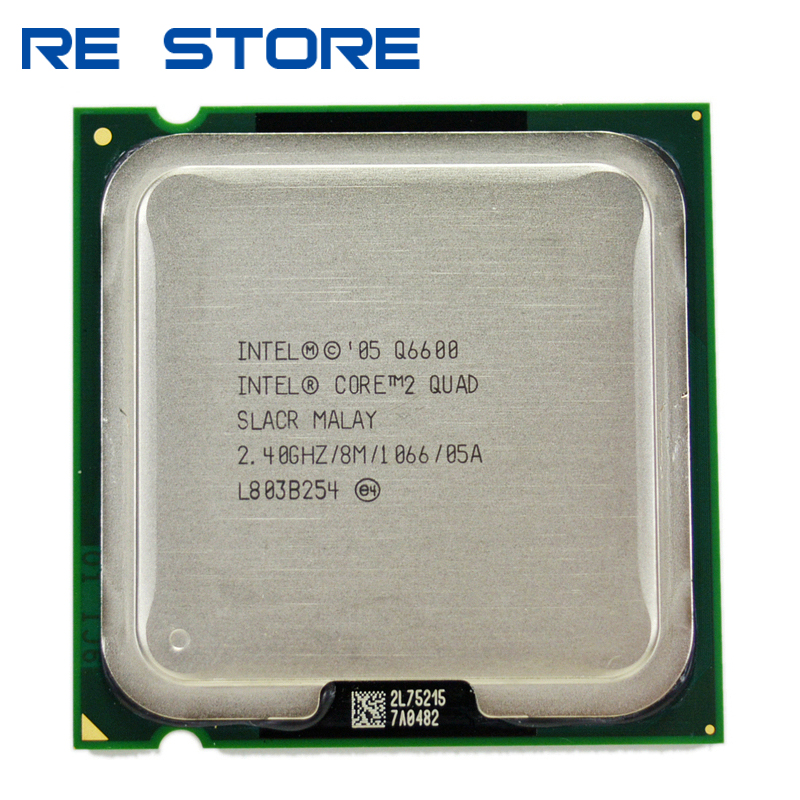 Б/у процессор Intel core 2 quad Q6600, 2,4 ГГц, четырехъядерный FSB 1066, настольный процессор LGA 775