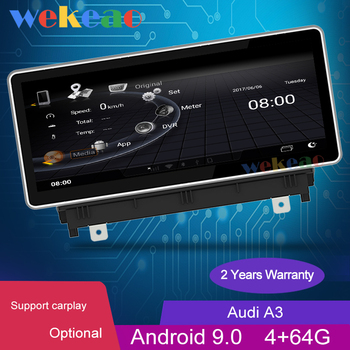 Wekeao 10.25 Touch Screen Android 9.0 Car Dvd Multimedia Player For Audi A3 Car Radio Automotivo BT Music Auto GPS 4G 2013-2016 image