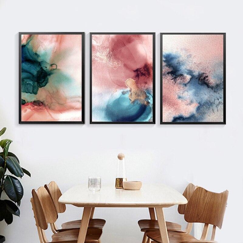 Navy Blush Wall Art Print