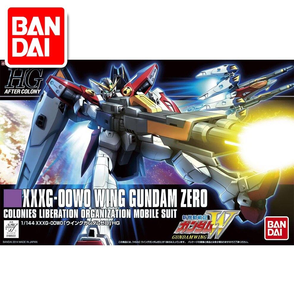Original Gundam HG 1/144 Model XXXG-00W0 WING GUNDAM ZERO  Mobile Suit Kids Toys