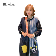2019 Autumn cartoon print Rompers fashion long sleeve Overalls women Jumpsuits