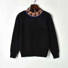 Knit Sweater Turtleneck Black Pullover Long-Sleeve White Women Spring High-Collar Female