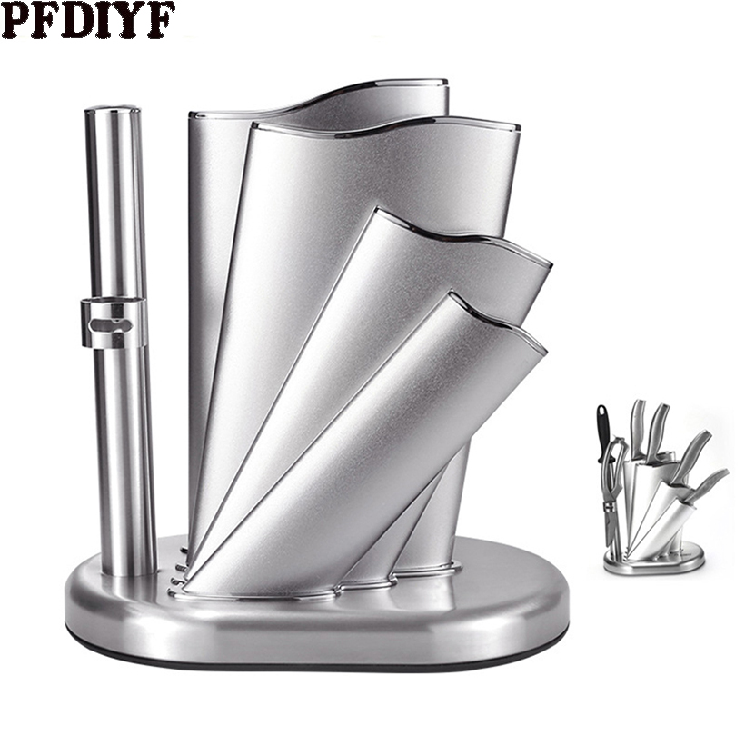 2019 Newest Knife Stand Holder For Kitchen Knife Stainless Steel Cooking Knife Holder Stand Block High End Kitchen Accessories