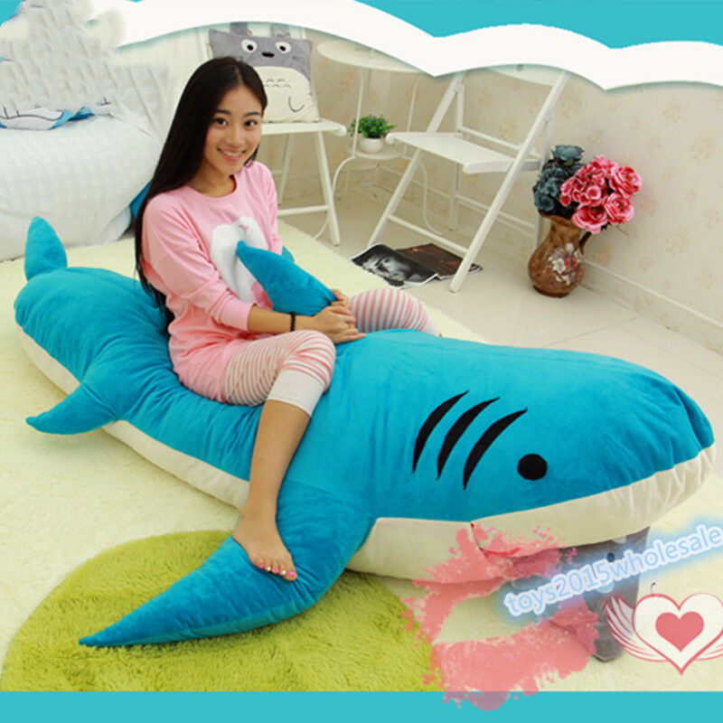 Big Stuffed Crocodile Plush Toys Soft Animals Sleep Bed Pillow Baby Crib Cushion